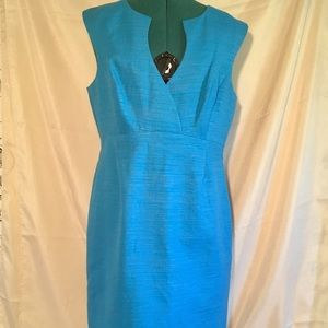 Trina Turk Turquoise Blue Textured Sheath Dress 12